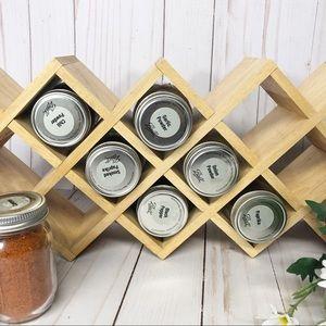 Vintage Kitchen - Wooden Farmhouse Kitchen Decor Spice Rack Holder